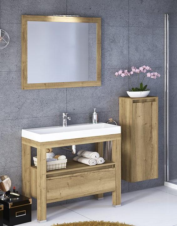 Szafka Stojąca Devo Ambiente Z Umywalką 100 Oak Halifax