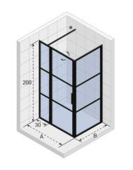 kabina-riho-grid-120-90-czarny-profil-gb2120090-gb203-vyk-topaz-bialystok
